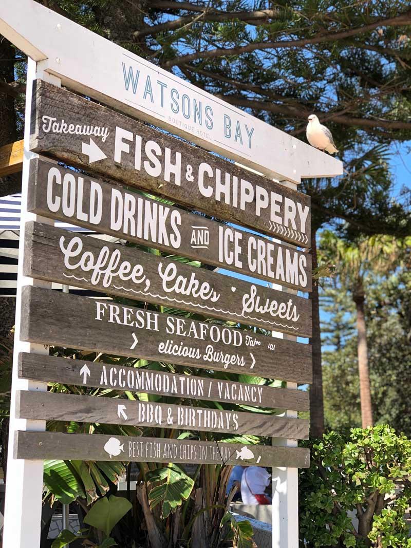 Watsons Bay sign